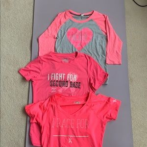 Under Armour Power in Pink shirts